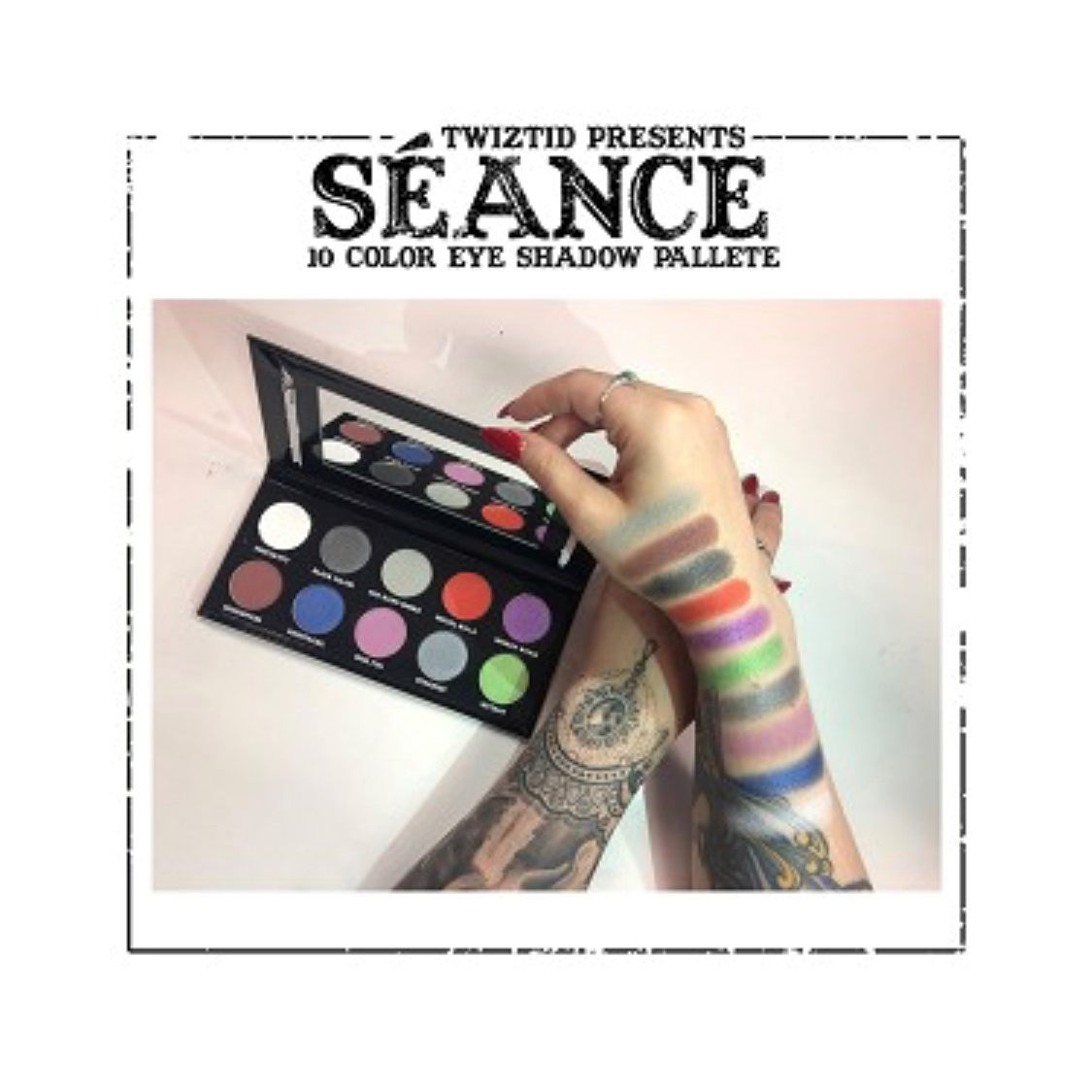 Seance by Twiztid Cosmetics 10 Color Eye Shadow Palette
