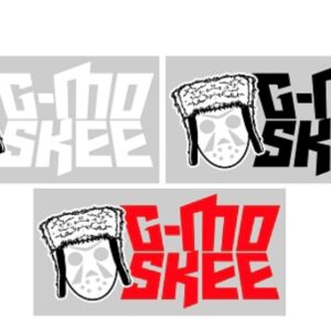 G-Mo Skee Stacked Logo and Mask 8 Inch Vinyl Decal