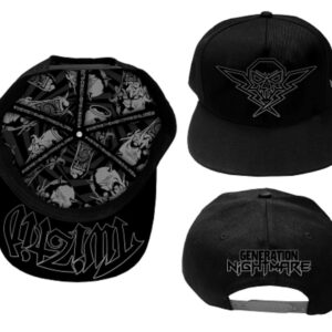 "Twiztid ""Generation Nightmare Black and Silver Snapback Hat"""