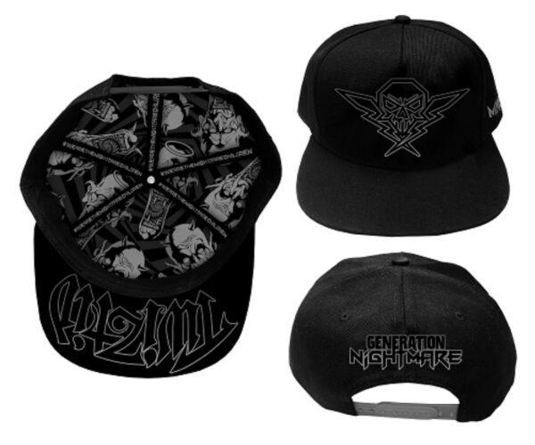 "Twiztid ""Generation Nightmare Black and Silver Snapback Hat"""