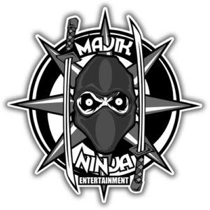 Majik Ninja Sticker - 15cm x 15cm
