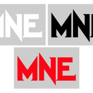 MNE 3 Letter 8 Inch Vinyl Decal