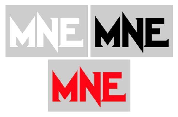 MNE 3 Letter 8 Inch Vinyl Decal